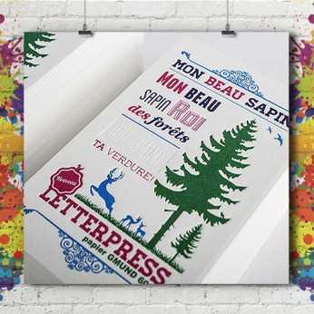 Carte Letter Press 14x14 cm