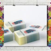 Carte Visite 8.5x5.4 - PVC transparent