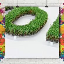 Lettre & Logo 3D Végétal Synthétique