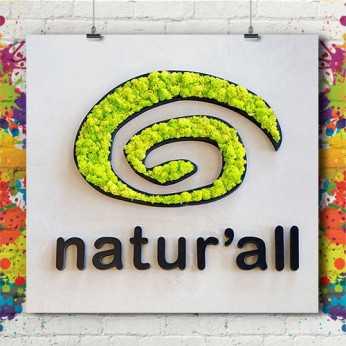 Lettre & Logo 3D Végétal Naturel