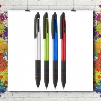 Stylo Stylet 3 couleurs Trime