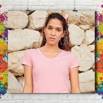 T-Shirt MC Col V Eco - Femme