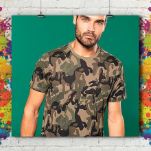 T-Shirt MC Army Eco - Homme
