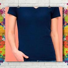 T-Shirt MC Col V Standard - Femme