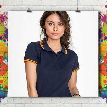 Polo MC Bicolore Standard - Femme