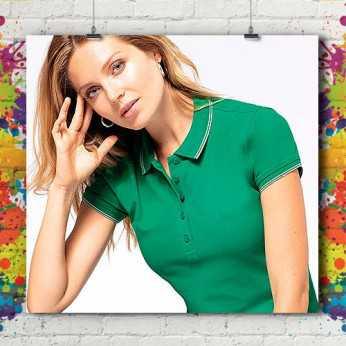 Polo MC Bicolore Liseré Standard - Femme