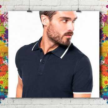 Polo MC Bicolore Liseré Premium - Homme